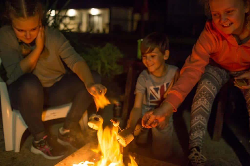 Camp fire The Retreat Port Stephens NSW