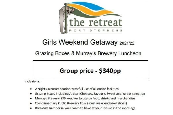 Accommodation Packages & Deals - The Retreat Port Stephens